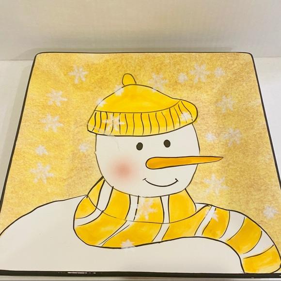 Oneida snowman Christmas serving plate holiday